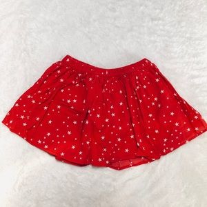 Star Print Girls  Skirt